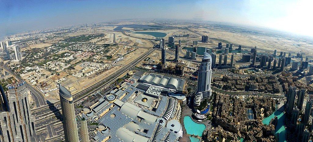 Dubai - View from the Burj Khalifa - Downtown Dubai - The Dubai Mall - Business Bay