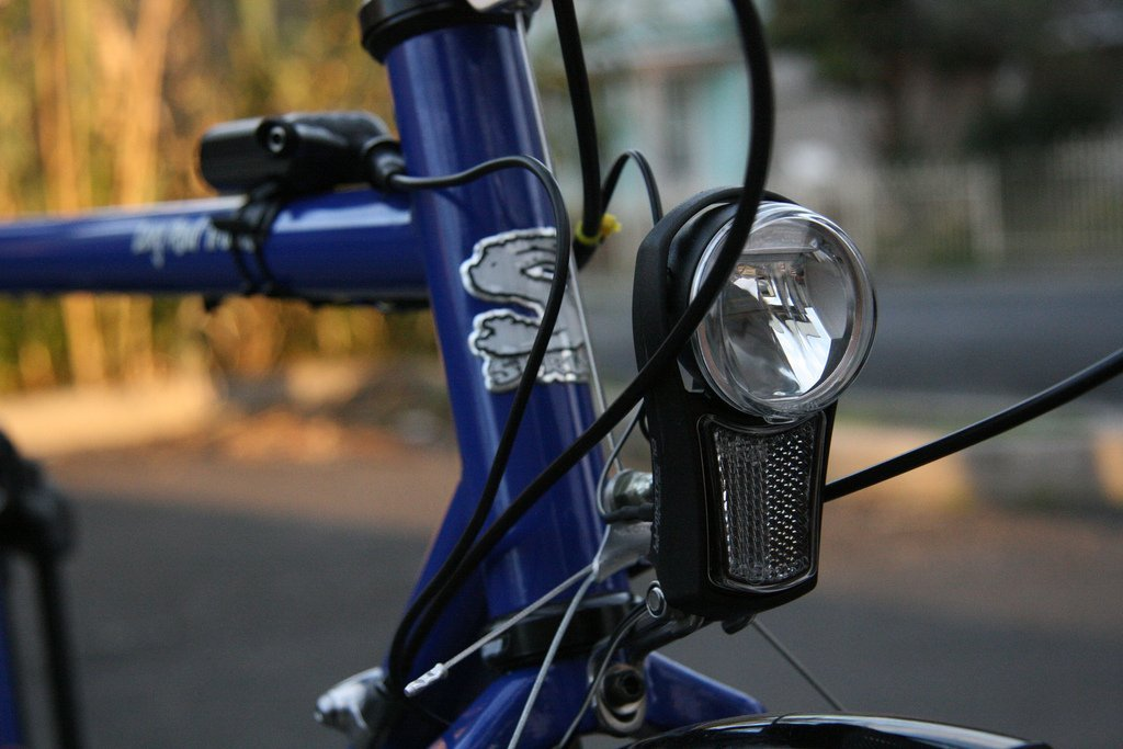 Dynamo light on bicycle
