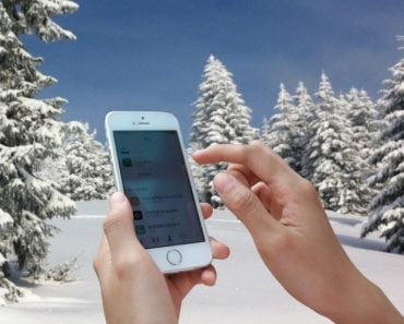 Fingers colding freezing in snow winter season