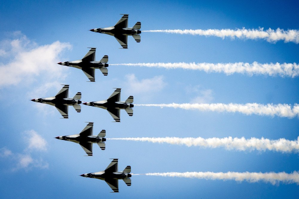 Wing sky airplane plane aircraft military