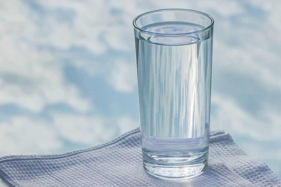 Glass Tumbler Sky Reflection Water Napkin Glass