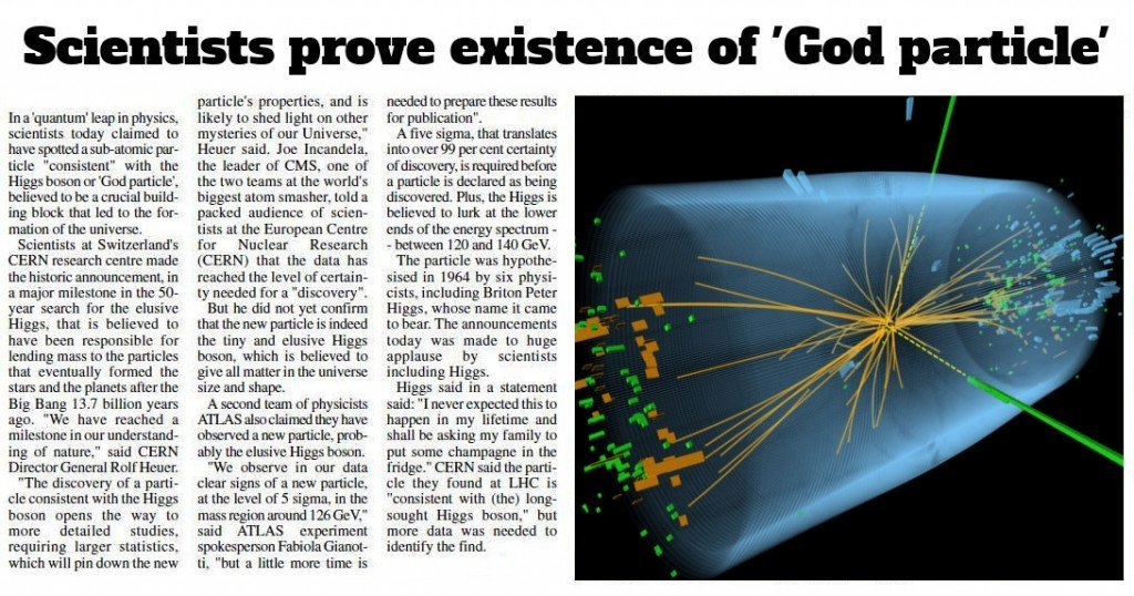 God particles newspaper