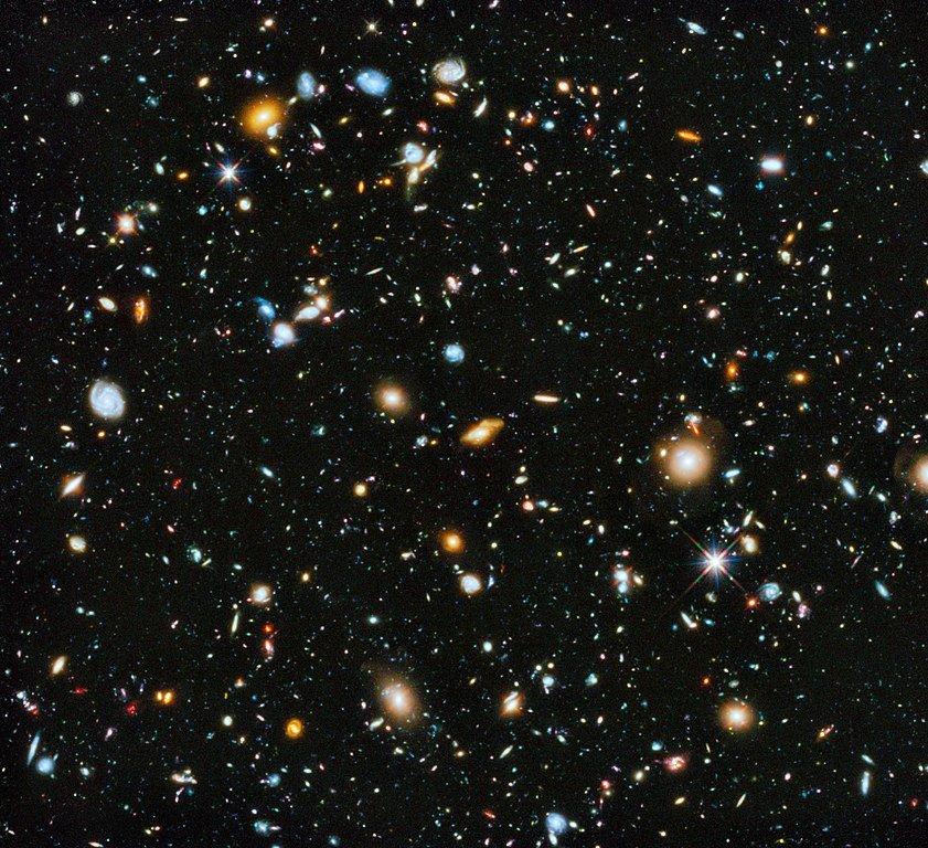 Hubble Ultra Deep Field space stars