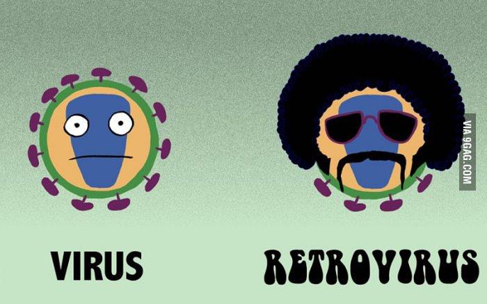 Virus retrovirus meme