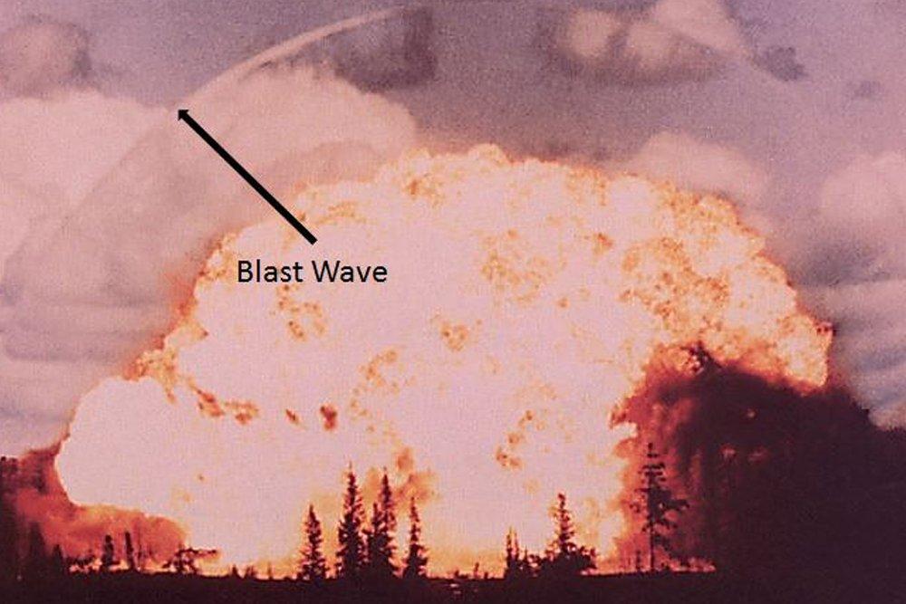 explosion shock wave