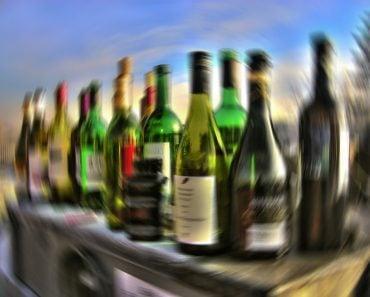 Alcohol bottles blur image