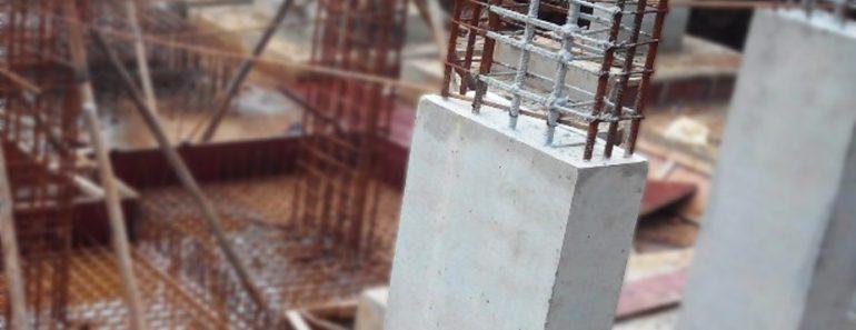 Steel rods inside concrete