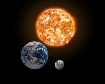 earth sun moon space universe gravity