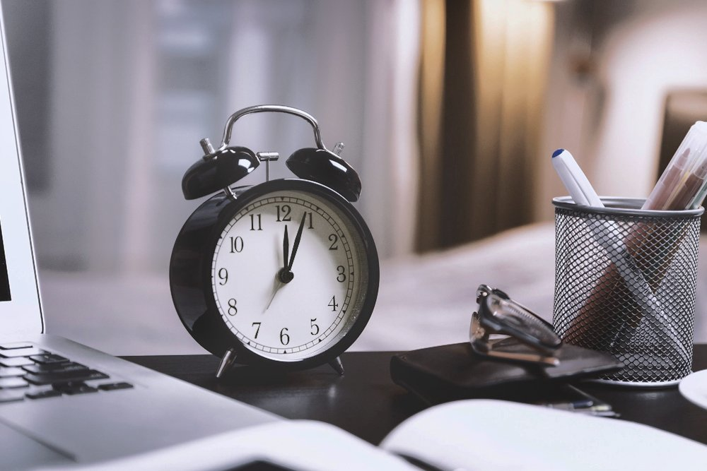 clock on table, clock, watch