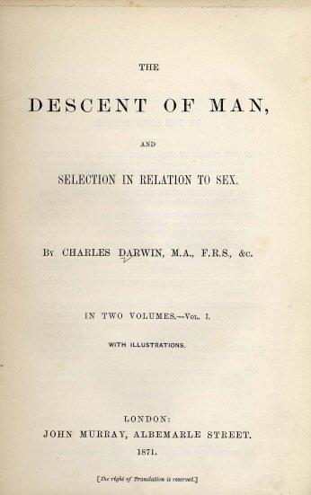 Darwin Descent of_Man (1871)