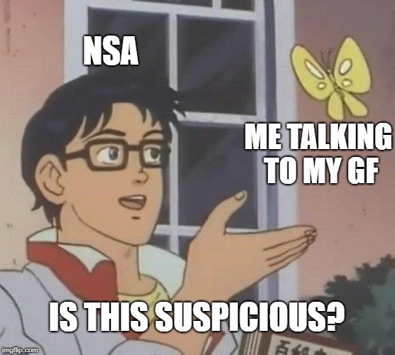 NSA; ME TALKING TO MY GF IS THIS SUSPICIOUS