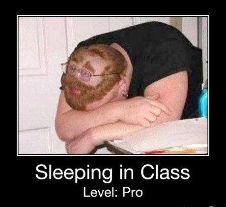 Sleeping In Clas