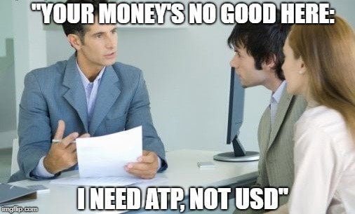 Your money's no good here