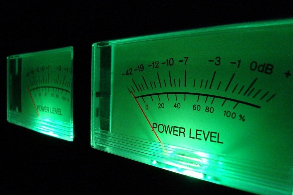 analog volum level sound