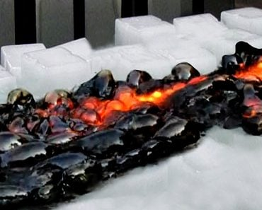 lava meets ice