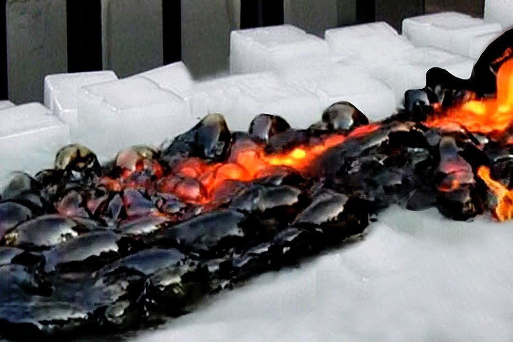 Lava on ice: What happens when lava meets ice?