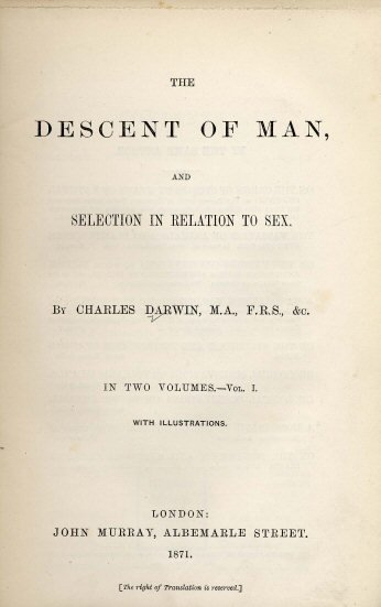 Darwin-Descent of Man