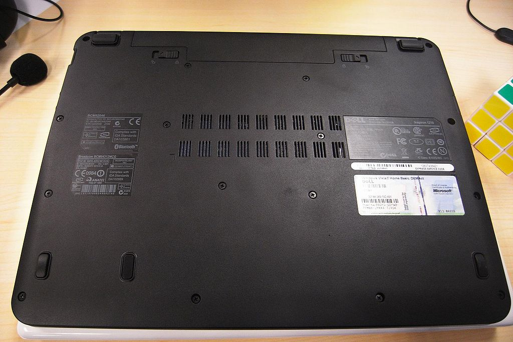 Dell Mini 12 bottom