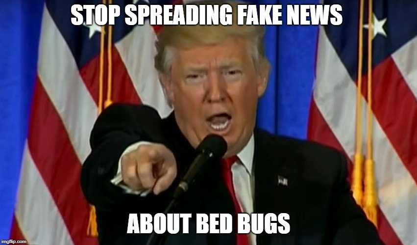 STOP SPREADING FAKE NEWS; ABOUT BED BUGS meme