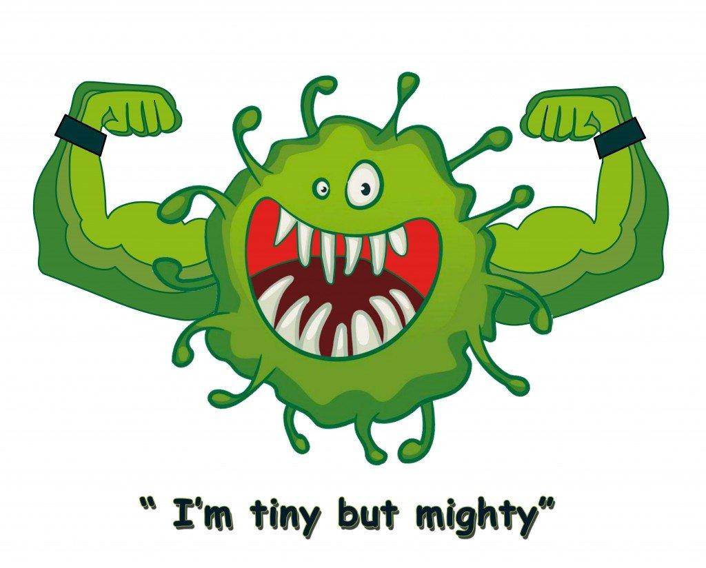 bacteria, virus, happy virus