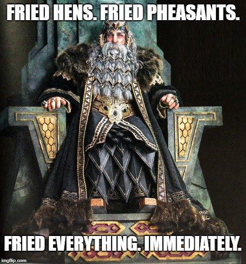 Fried everything. Immediately meme