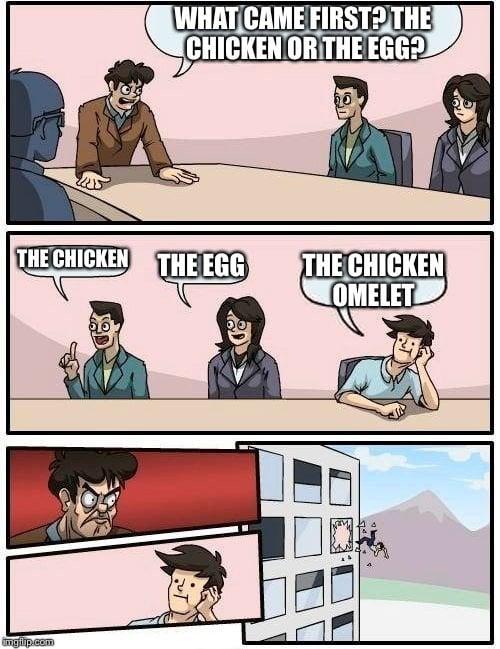 chicken omlete meme