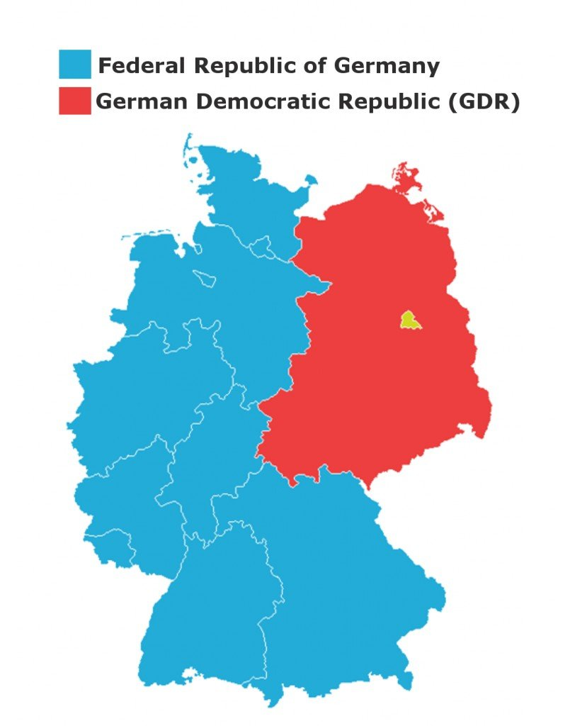 Map Of East Germany And West Germany.Story Of The Berlin Wall Division And Reunification Of Germany