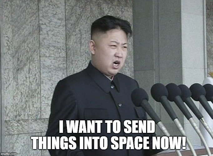 I want to send things into space NOW meme
