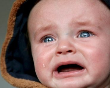 baby crying tears