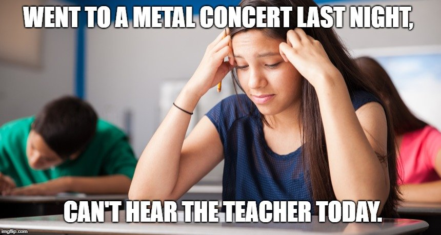 can't hear the teacher today meme