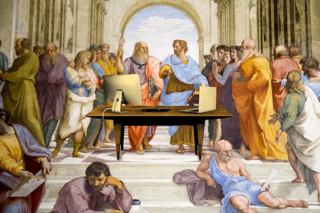 Aristotle Academy Vatican Plato