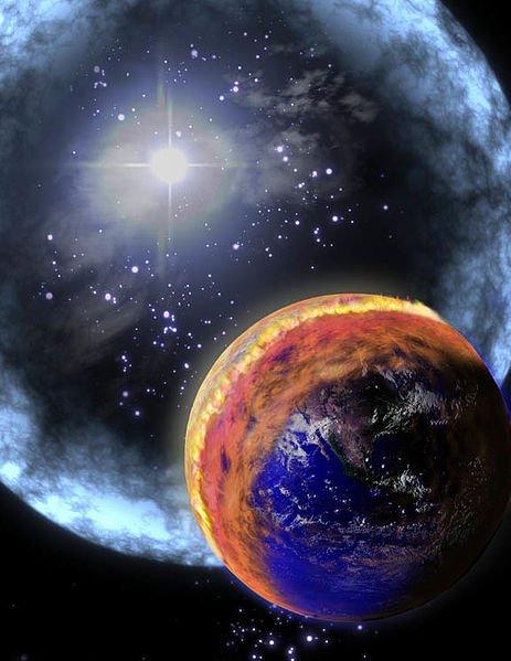 GRB_illustration_Earth,gamma ray burst affecting earth