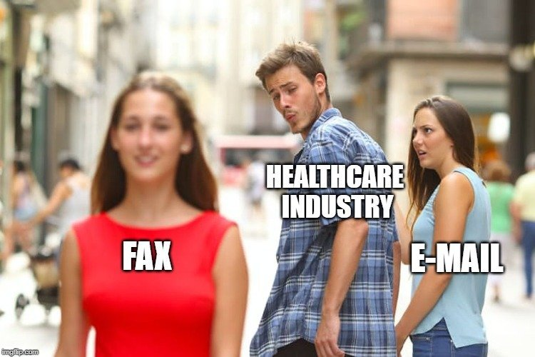 HEALTHCARE INDUSTRY; E-MAIL; FAX meme