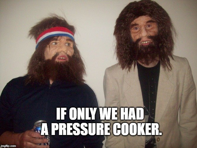 If only we had a pressure cooker. meme