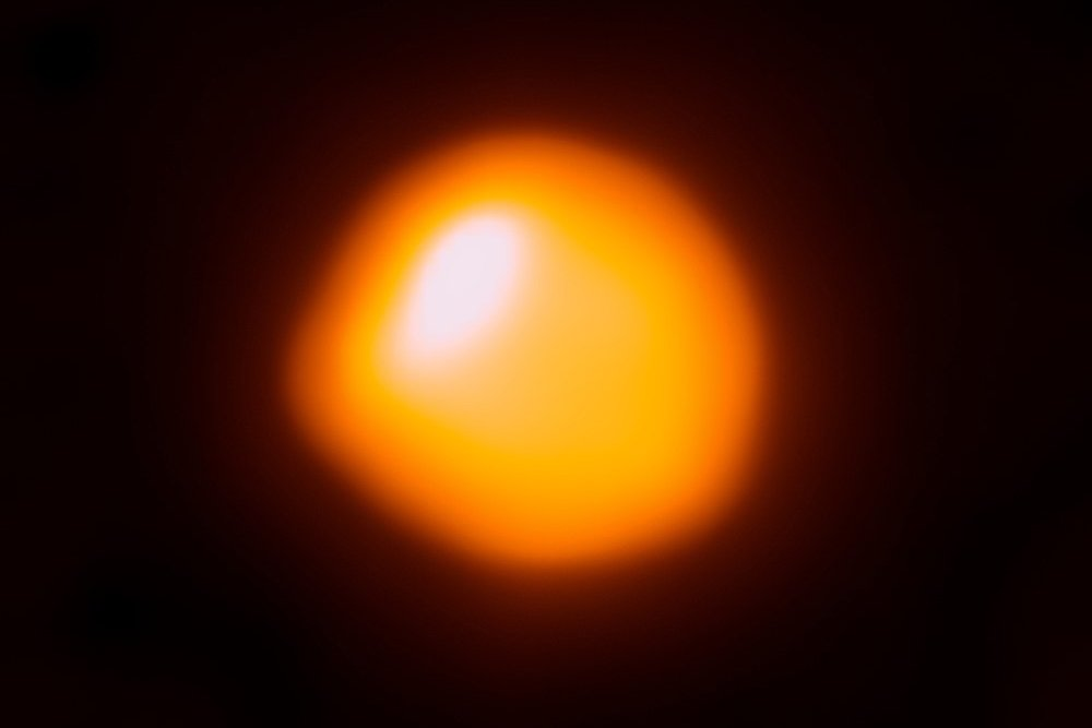 The red giant star Betelgeuse is closer than we thought