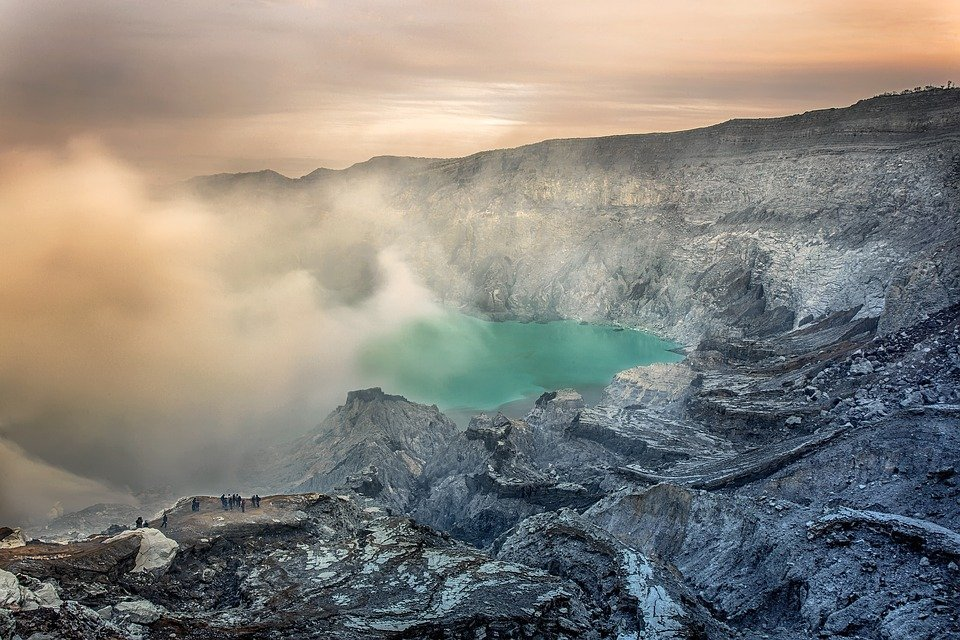 Geography Volcano Steam Indonesian Views