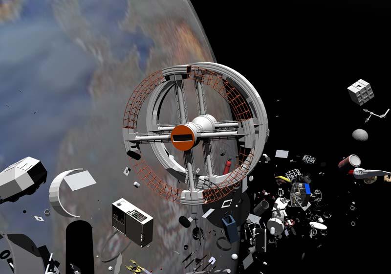 Space junk, space garbage, debris