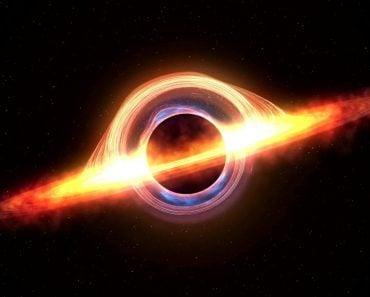 Black hole attracting space matter. 4k video 3d rendering - Illustration(u3d)s