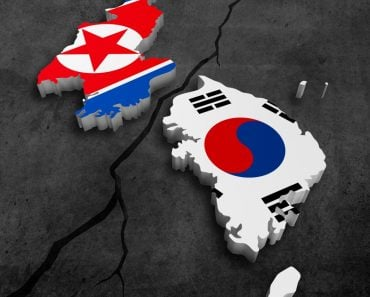 South and north korea break for politicy crisis concept Illustration(Giordano Aita)s