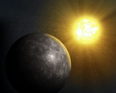 Sun rising over Mercury - Illustration(Mopic)s