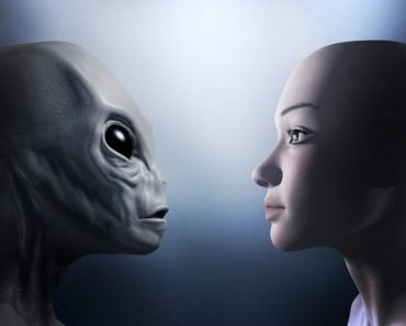alien and human Illustration(First Step Studio)s