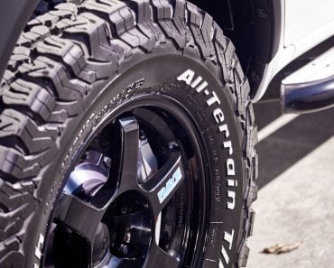 BANGKOK, THAILAND - OCTOBER 31, 2018; close up of BFGoodrich All-Terrain 4WD tyre features tougher sidewall rubber( KULLAPONG PARCHERAT)s