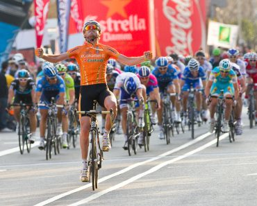 BARCELONA, SPAIN - MARCH 24 Samuel Sanchez of Euskaltel Team wins the 6th stage of the Volta a Catalunya cycling race, on March 24, 2012, in Badalona, Barcelona, Spain. - Image(Natursports)S
