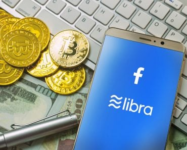 Bangkok Thailand 22 jun 2019 The Libra Facebook and bitcoin cryptocurrency for Libra Facebook content - Image( Niphon Subsri)s