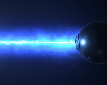 Blue laser destroys the sphere 3d illustration - Illustration(FlashMovie)S