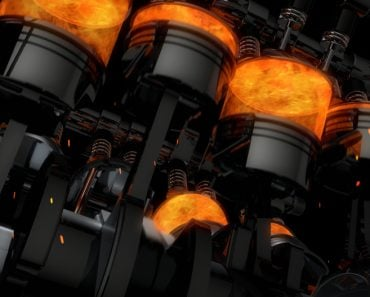 CG model of a working V8 engine with explosions and sparks. Pistons and other mechanical parts are in motion. - Illustration(yucelyilmaz)s