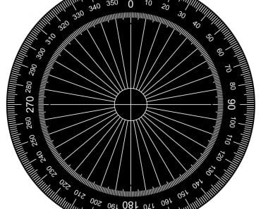 Protractor - Actual Size Graduation vector - Vector(attaphong)S