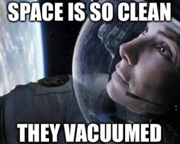 Space is so clean...they vacummed it