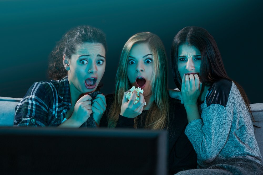 Image result for watching horror movies