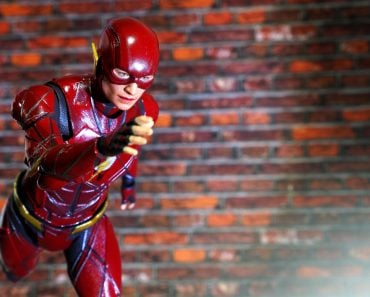 Bangkok, Thailand - September 23,2018 - A setting display of the Flash, action figure from famous DC comic. - Image(Krikkiat)s